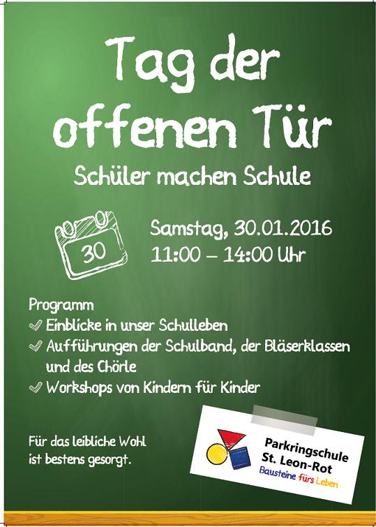 Tag der offenen türe  Tag der offenen Tür 2016 | Parkringschule St. Leon-Rot